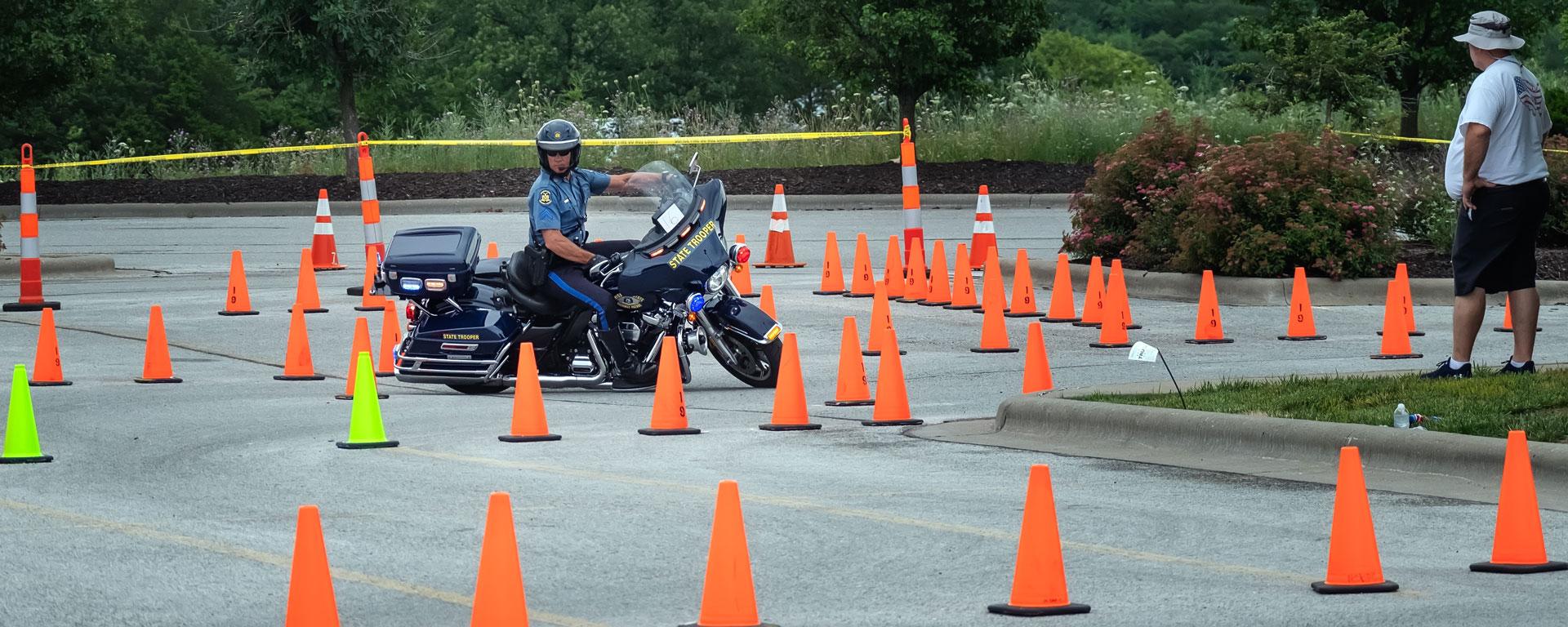 national law enforcement week motorcycle rodeo